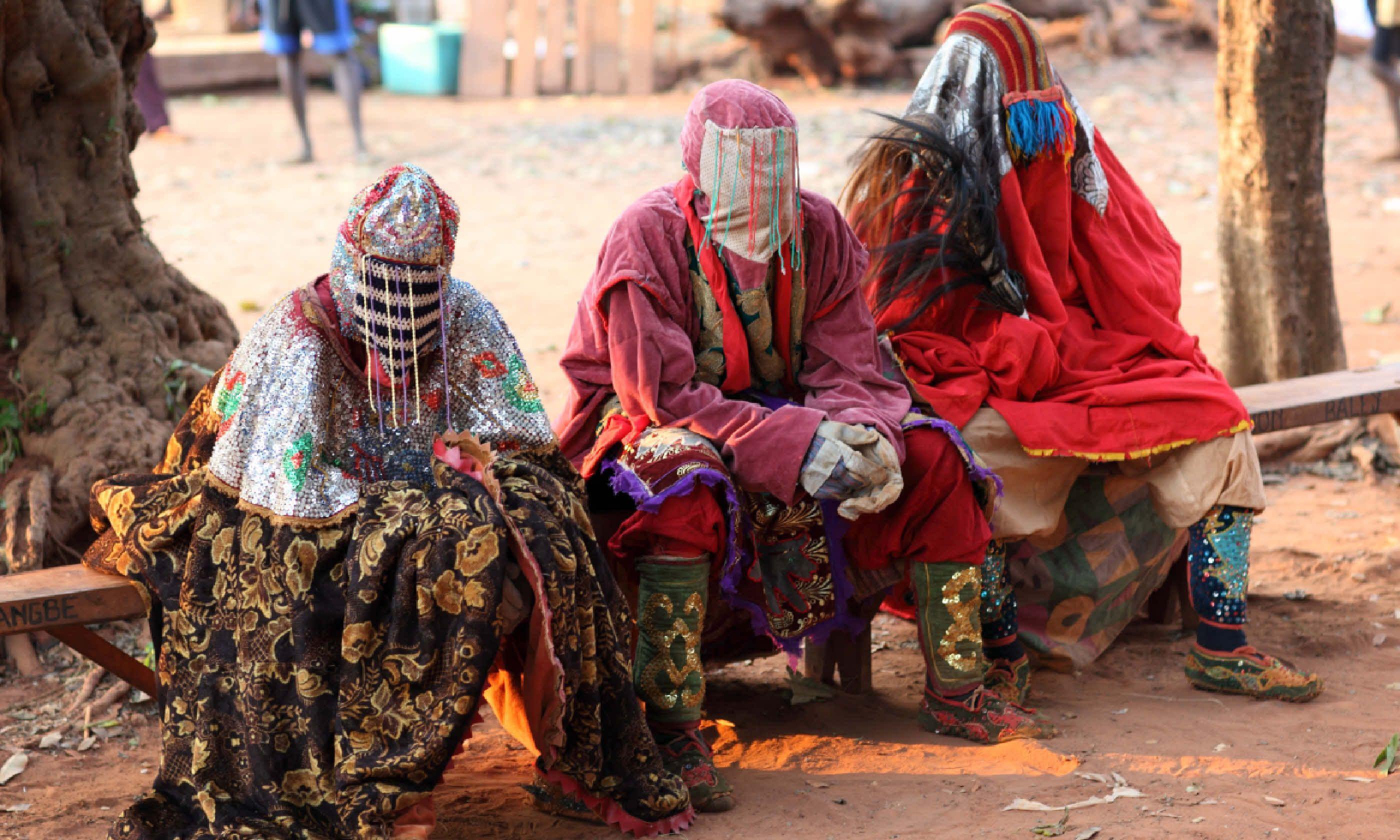 Ceremonial mask dance, Benin (Shutterstock)