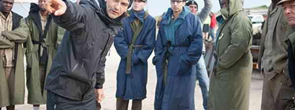 Justin Chadwick on the set of Mandela: Long Walk to Freedom