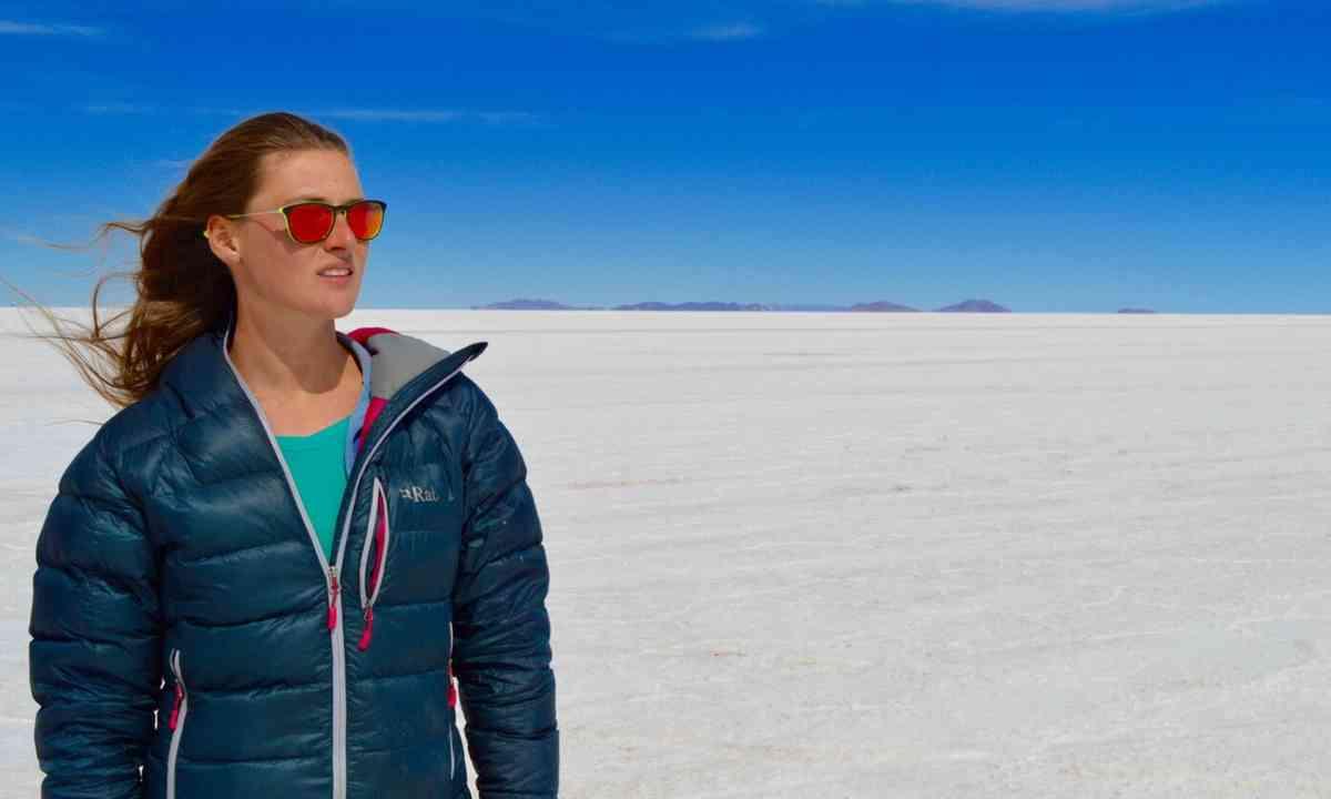 Down jacket. Bolivian Salt Flats (Laura Bingham)