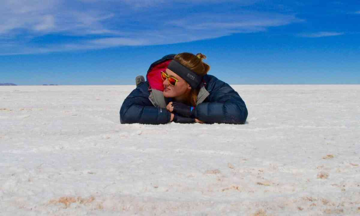 Keep ears protected on the salt flats of Bolivia (Laura Bingham)