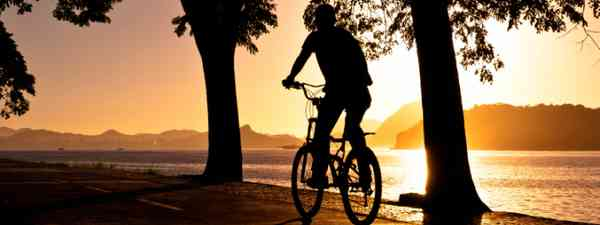 Silhouette of a Man Cycling (Shutterstock: see below)