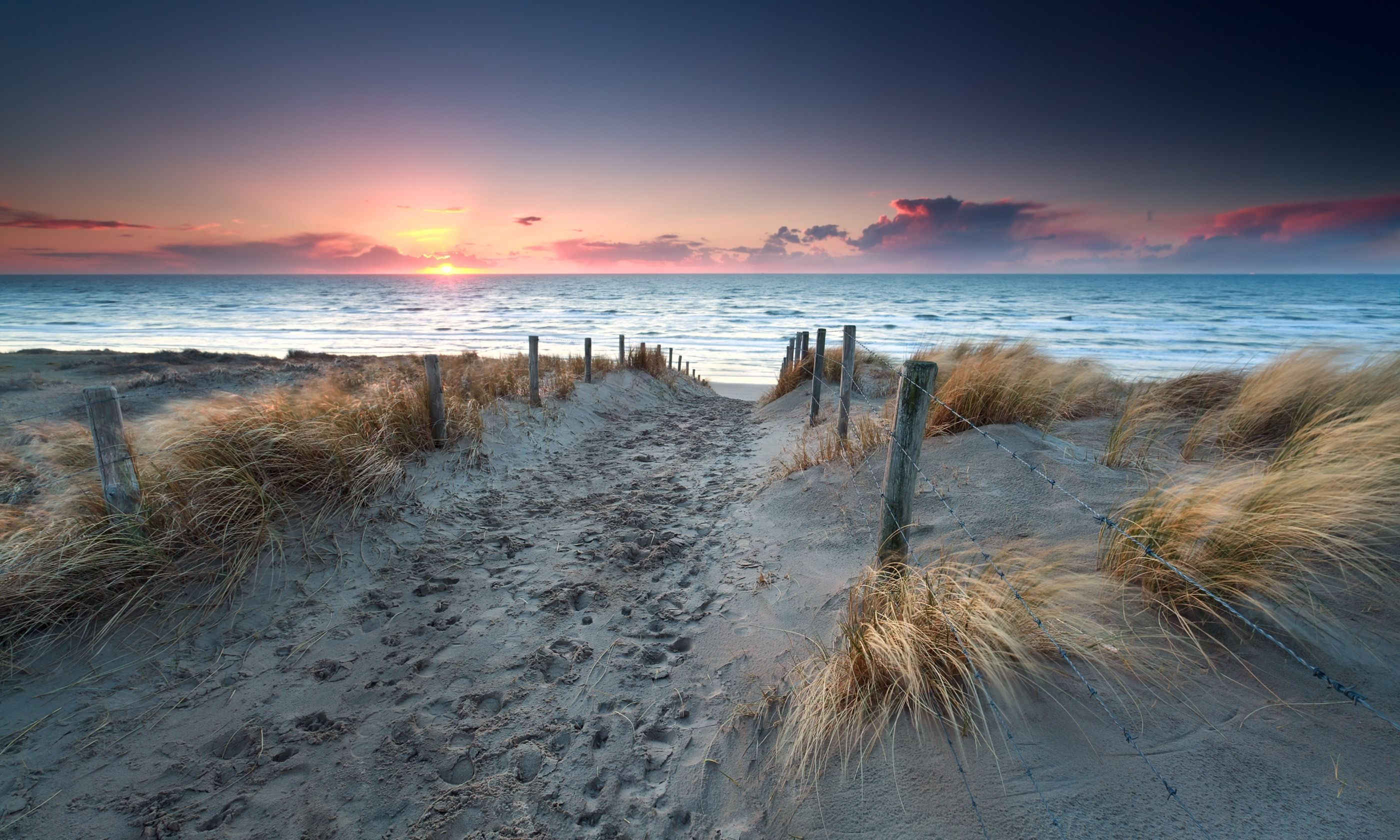 Dutch beach at sunset (Dreamstime)