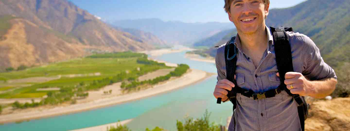 Simon Reeve on the Yangtze River (Supplied: BBC Pictures)