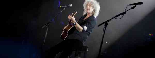 Brian May of Queen performs during charity Anti-AIDS concert in Kyiv, Ukraine (Shutterstock: see credit below)