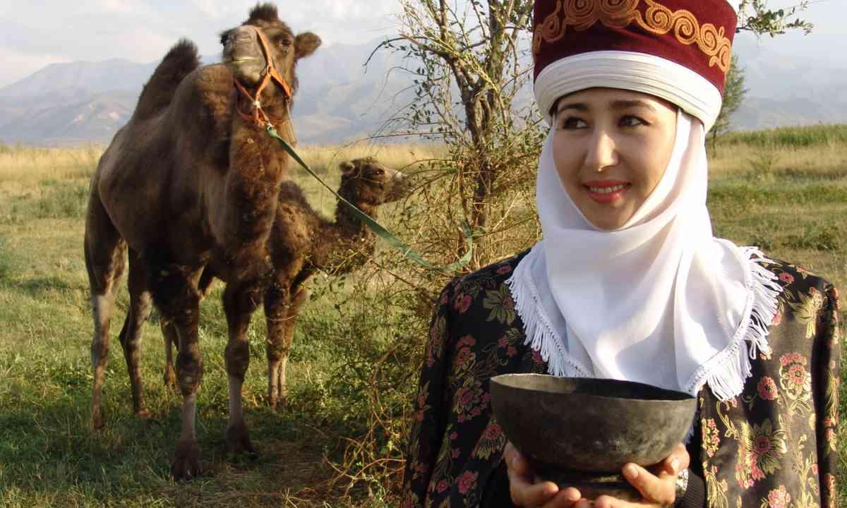 Kyrgyz nomad and camel (Shutterstock.com)