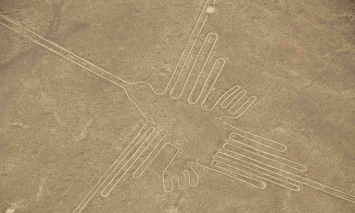 Aerial view of the Hummingbird Geoglyph (Shutterstock.com)