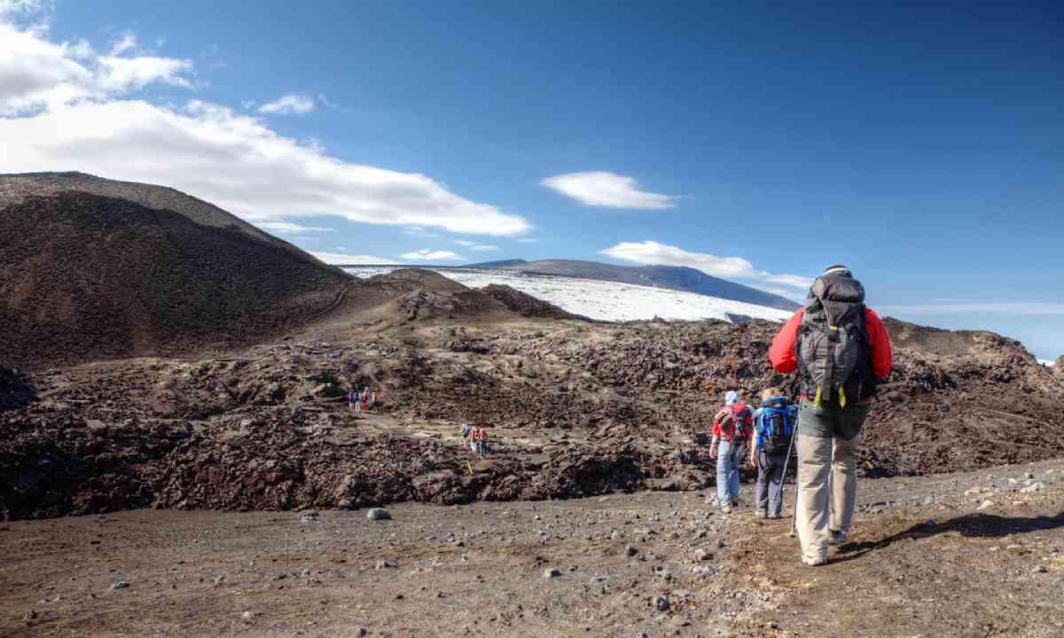 Walking on top of Eyjafjallajokull (Shutterstock)