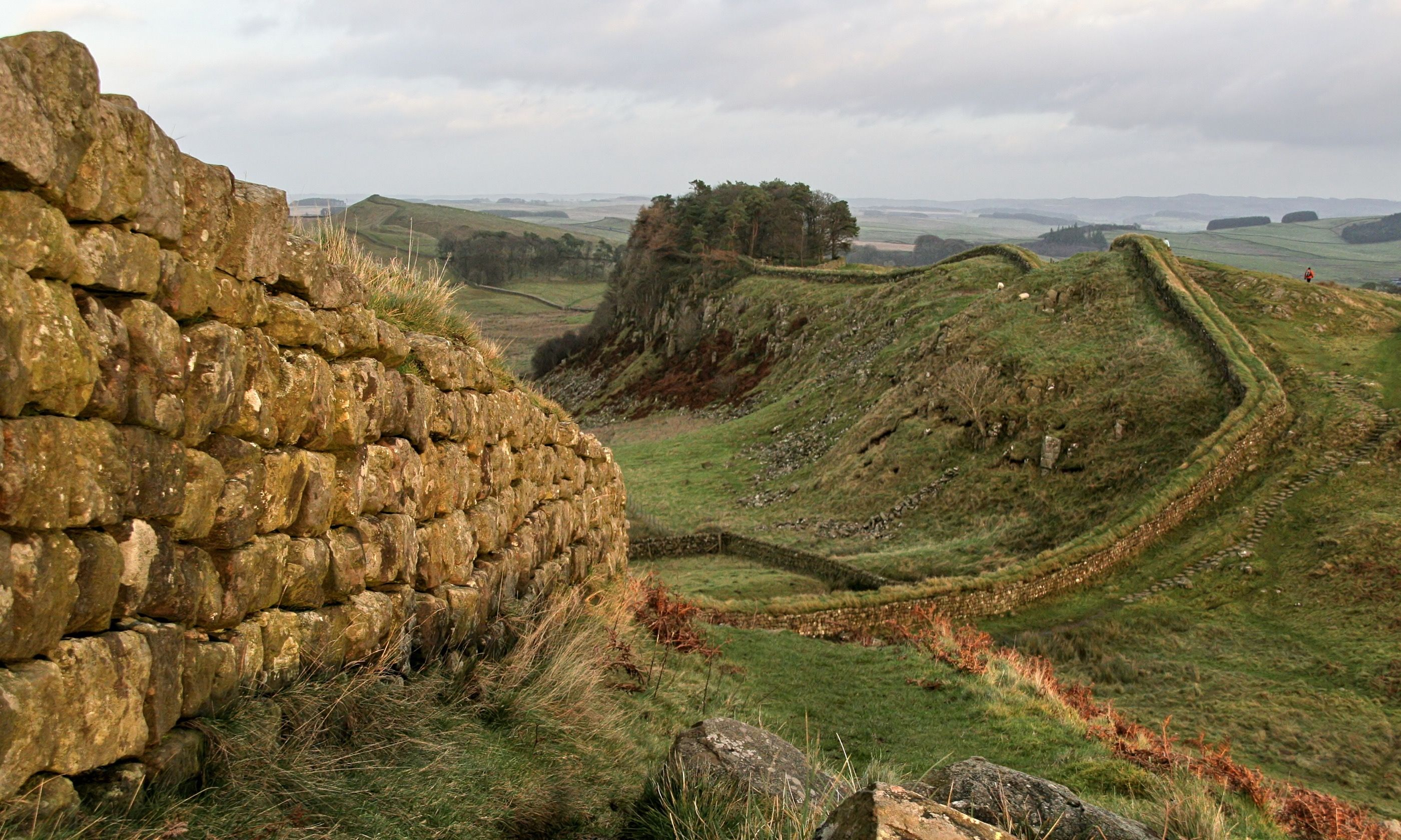 Hadrian's Wall near Housestead (Dreamstime)