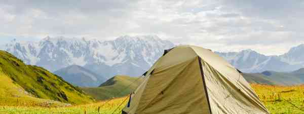 Tent in the mountains (Shutterstock)