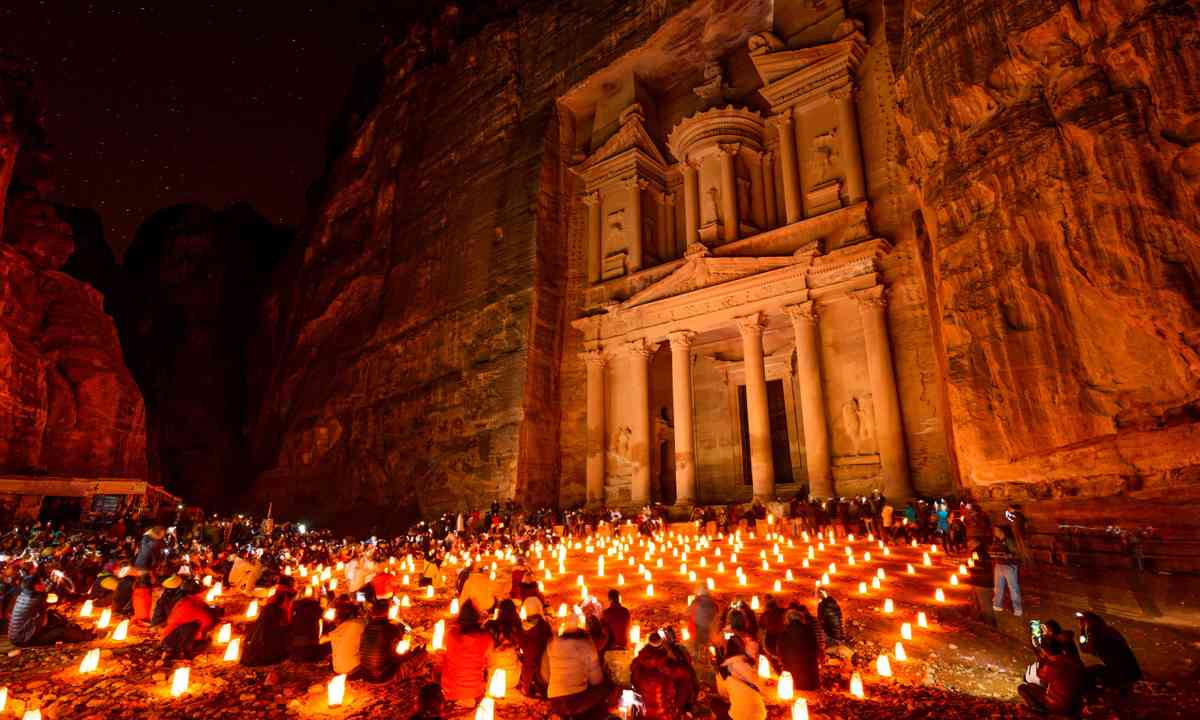 Petra by candlight (Shutterstock.com)