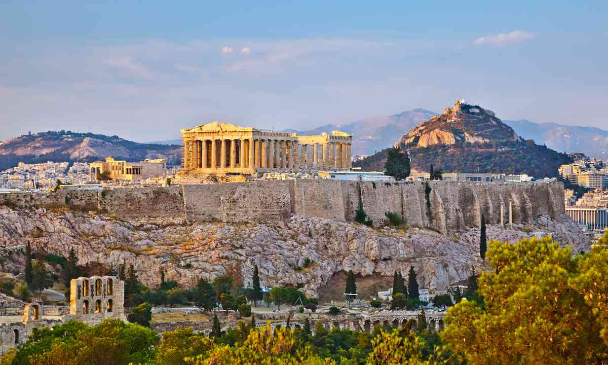 Acropolis at sunset (Shutterstock.com)