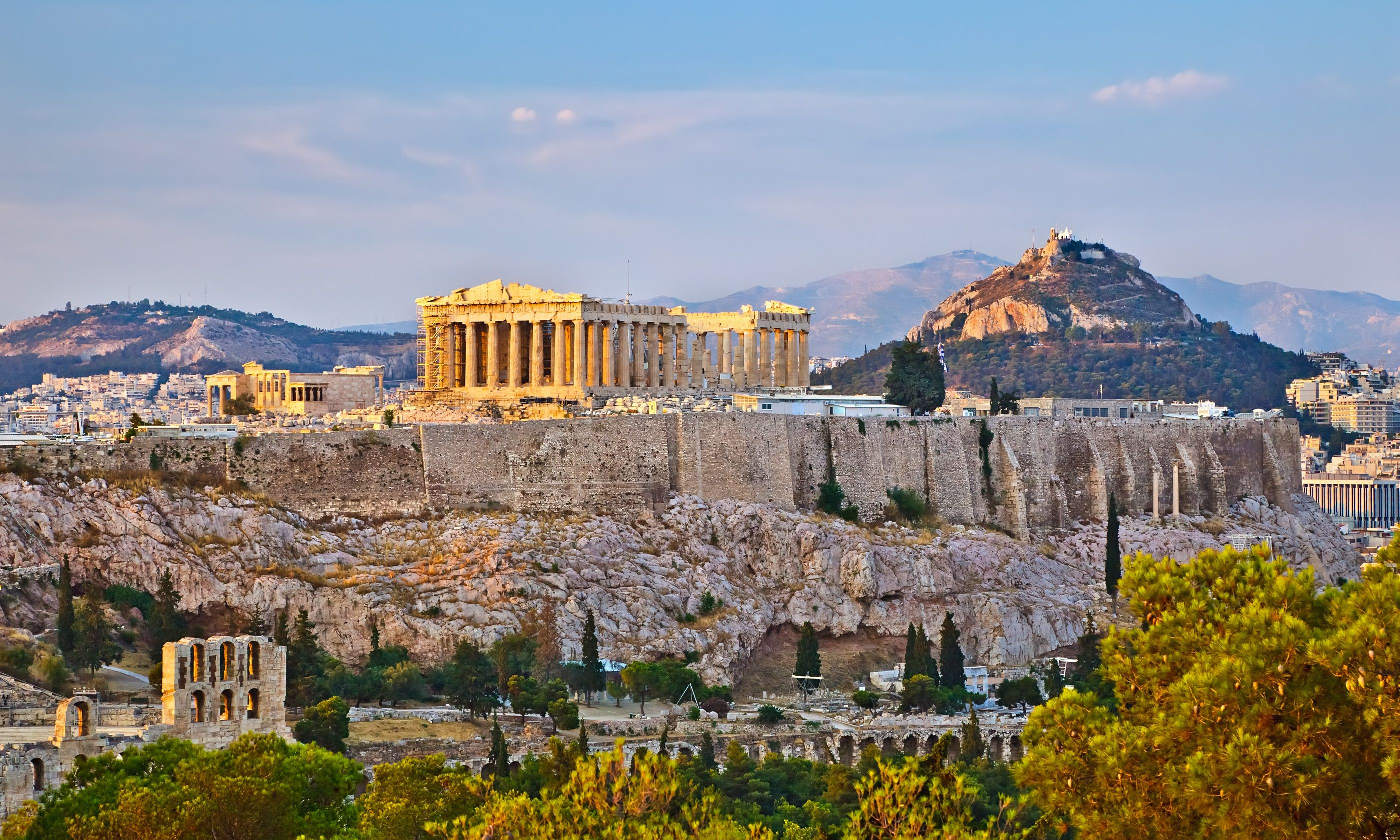 Acropolis at sunset (Shutterstock.com)