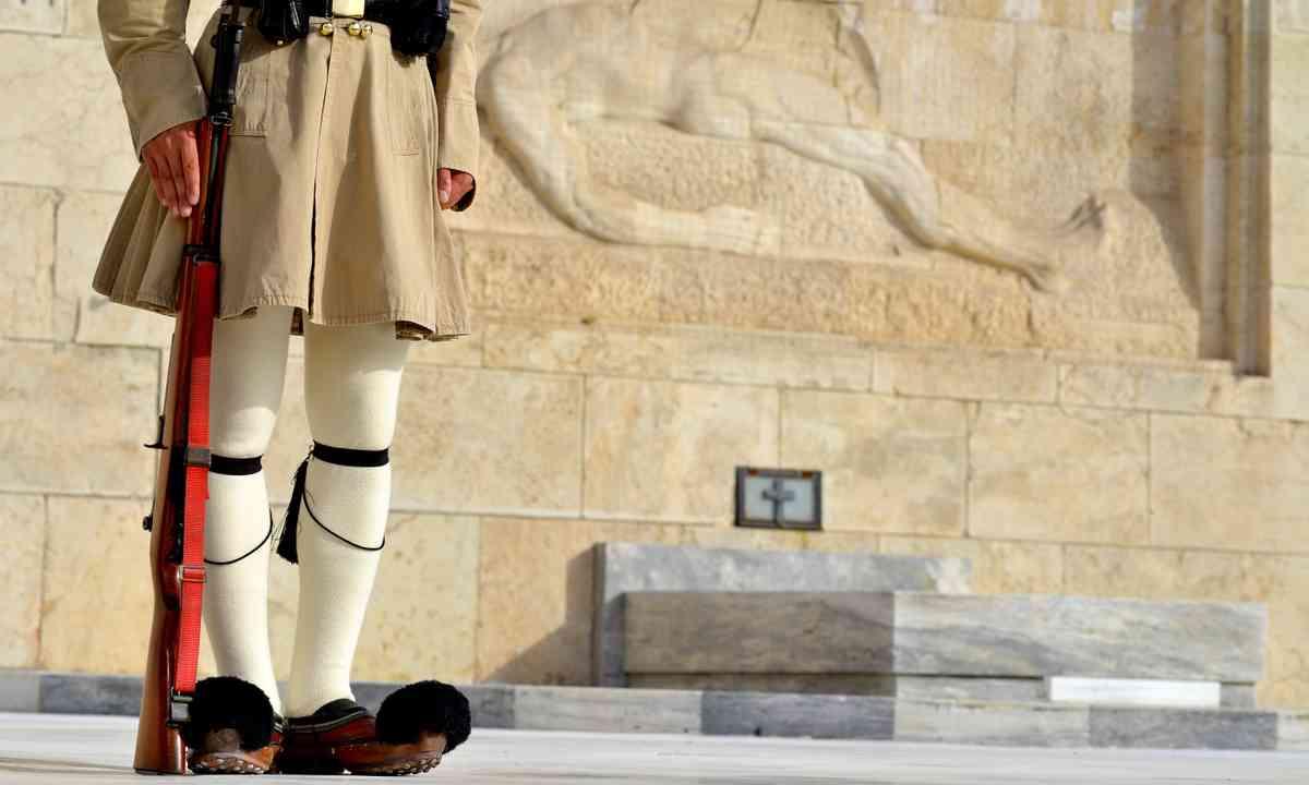 Evzoni guard, Athens (Shutterstock.com)