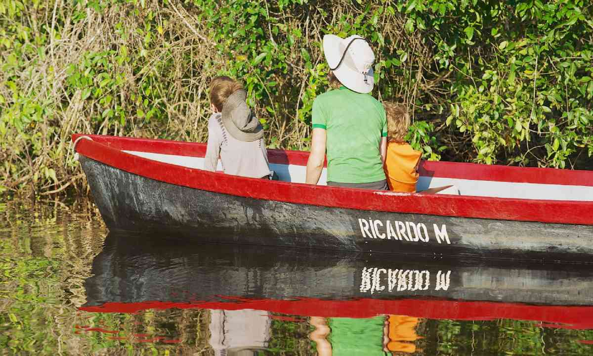 Touring Tortuguero National Park by boat (Dreamstime)