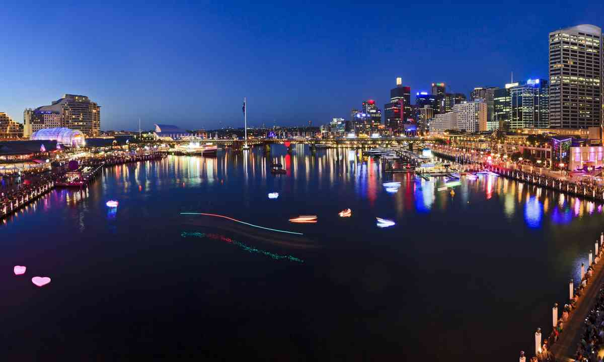 Darling Harbour at sunset (Dreamstime)