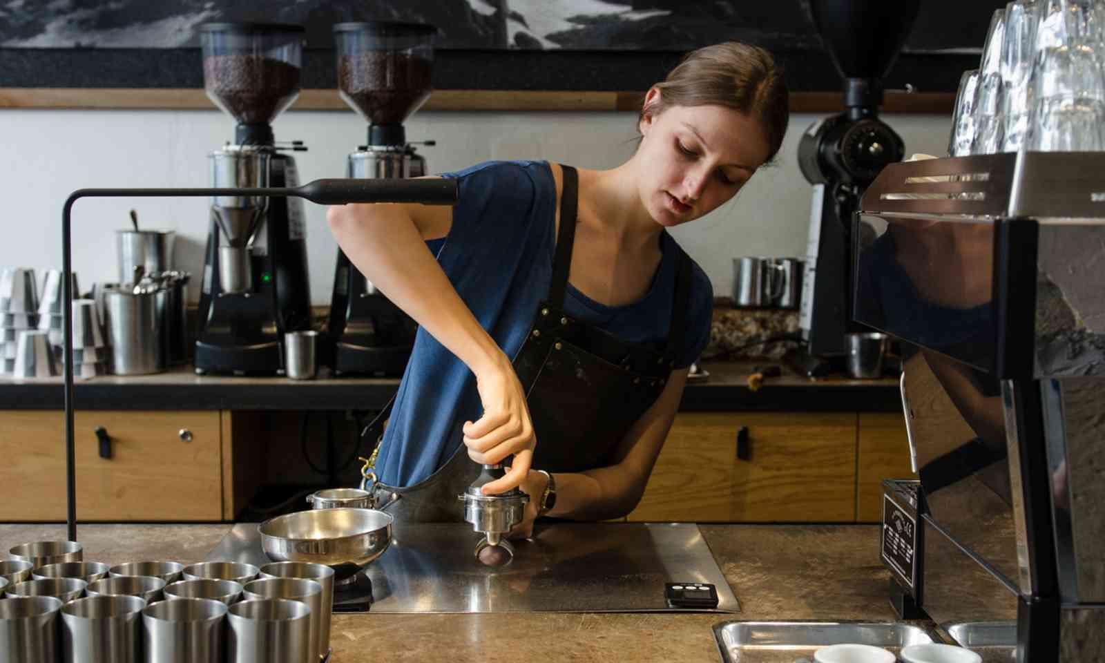 Preparing coffee at the Paramount Coffee Project (paramountcoffeeproject.com.au)