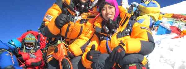 Tashi and Nungshi Malik at the top of Mount Everest (Nungshi Tashi Foundation)