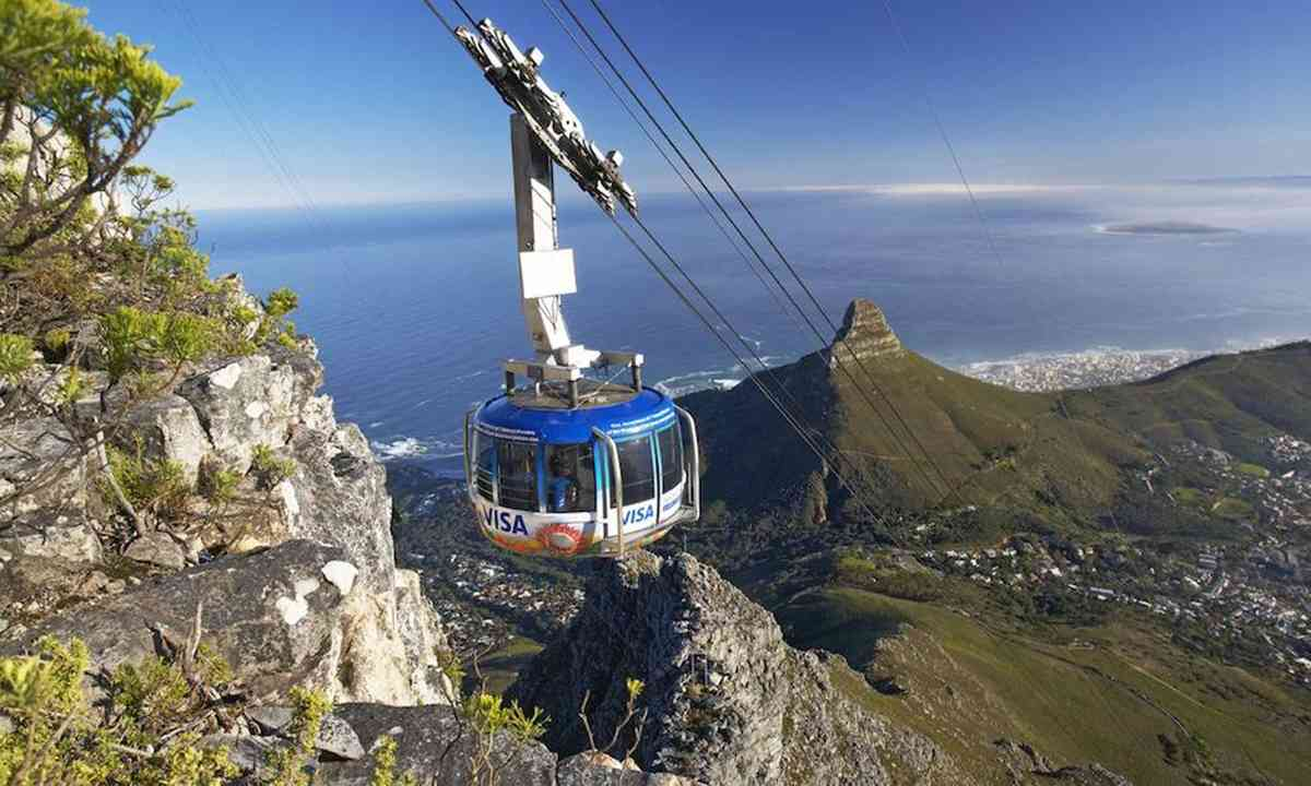 Heading up Table Mountain (Table Mountain Aerial Cableway)