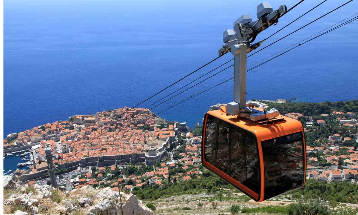 High over the old city of Dubrovnik (Dreamstime)
