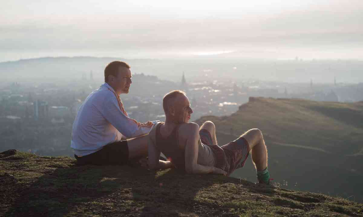 Renton (Ewan McGregor) and Spud (Ewen Bremmer) on top of Arthur's Seat (Sony)