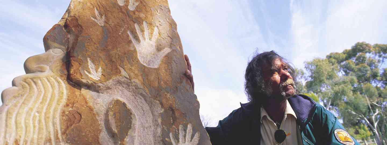 Aboriginal Elder in Mutawintji National Park (Destination NSW)