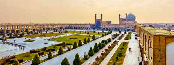 Imam Square viewed from Ali Qapu in Isfahan, Iran (Shutterstock)