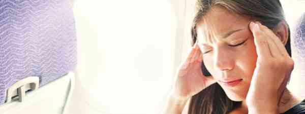 Woman with fear of flying (Shutterstock: see credit below)