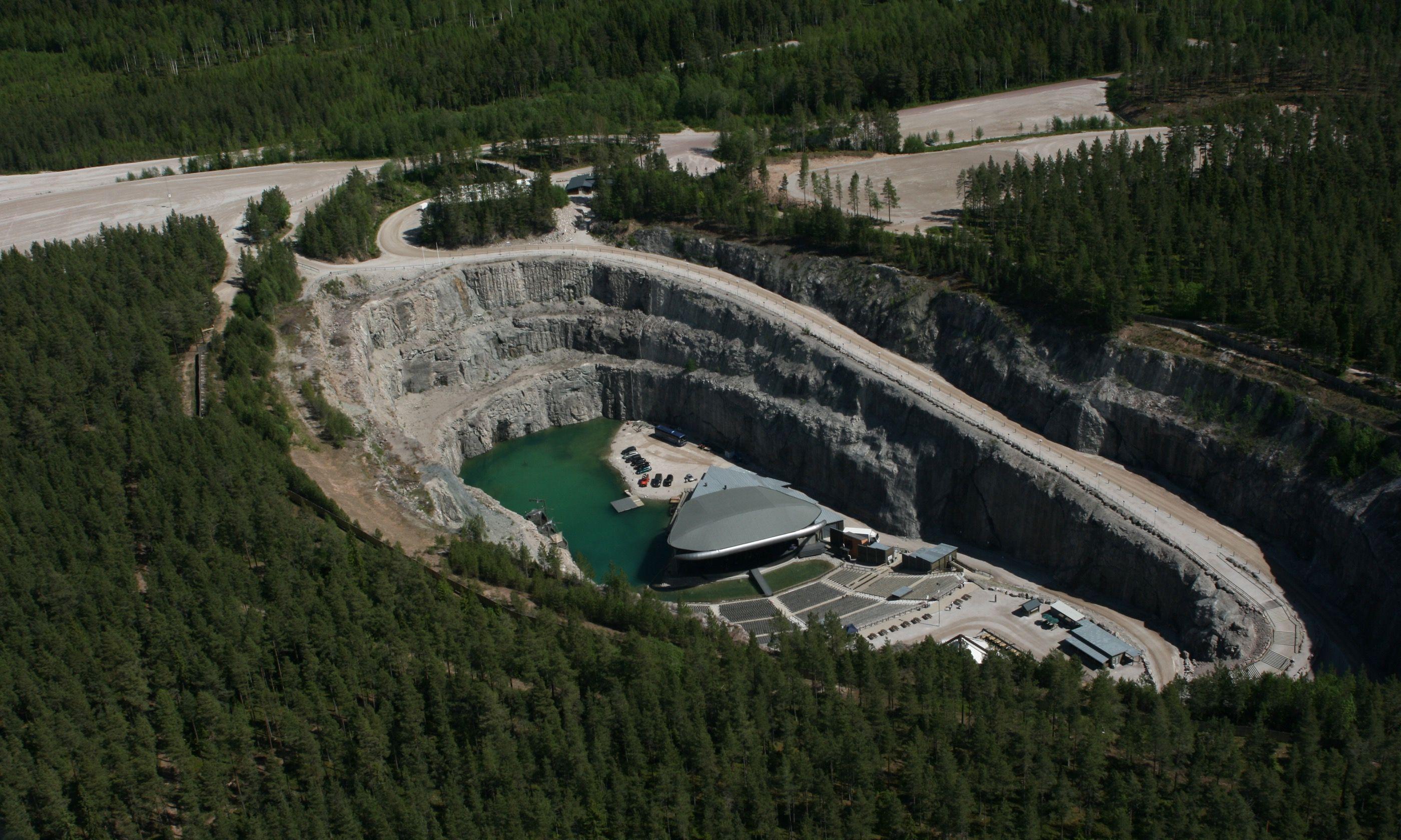 Aerial shot of Dalhalla (DalhallaOpera.se)