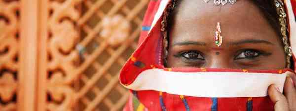 Indian woman in sari costume (Shutterstock: see credit below)