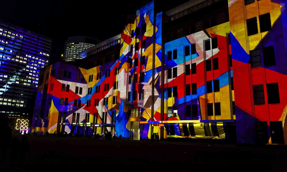 The Museum of Contemprary Art during the Vivid Festival (Dreasmtime)