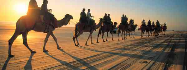 Sunset camel ride in Broome (Dreamstime)