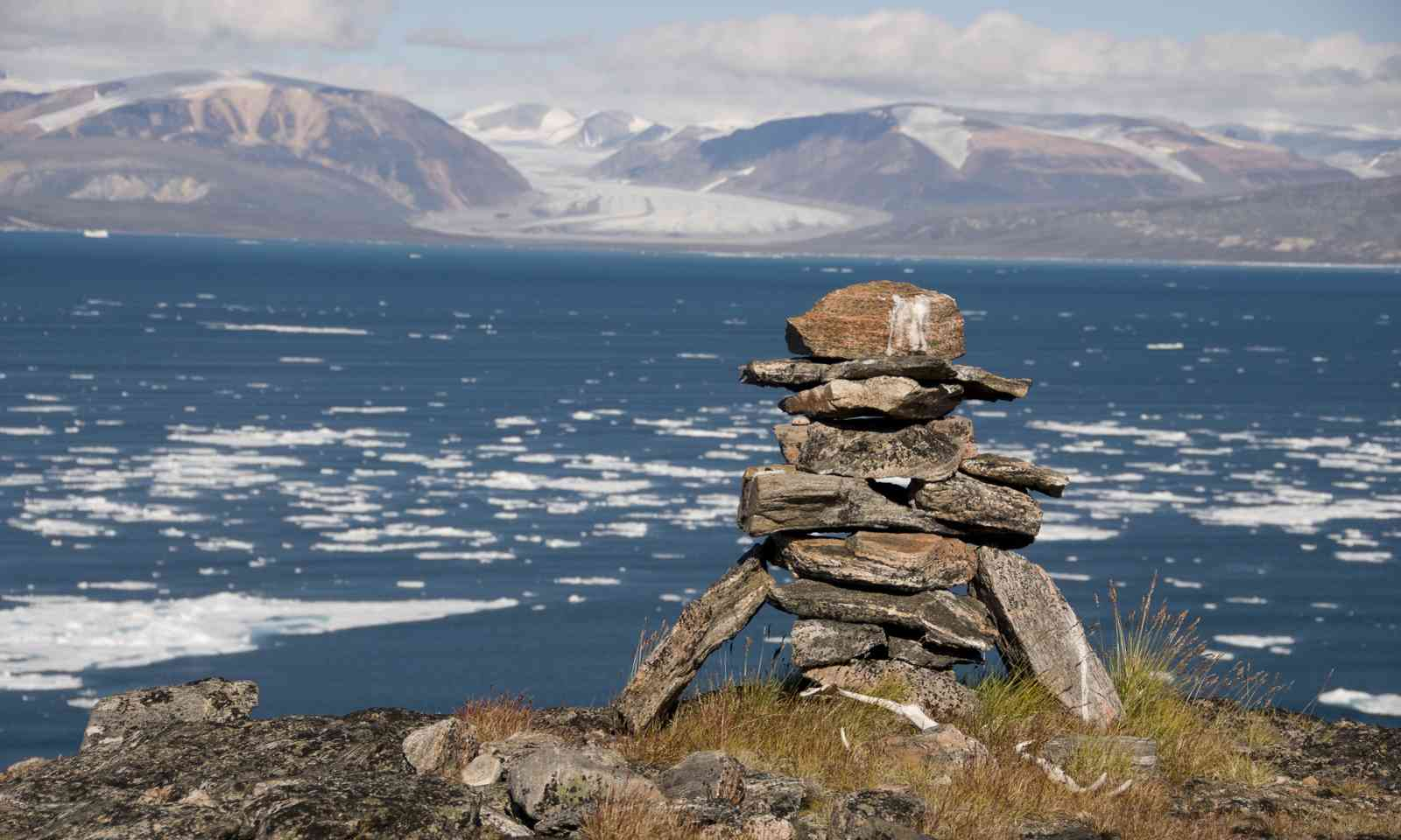 An ancient Inuit inukshuk (Shutterstock.com)
