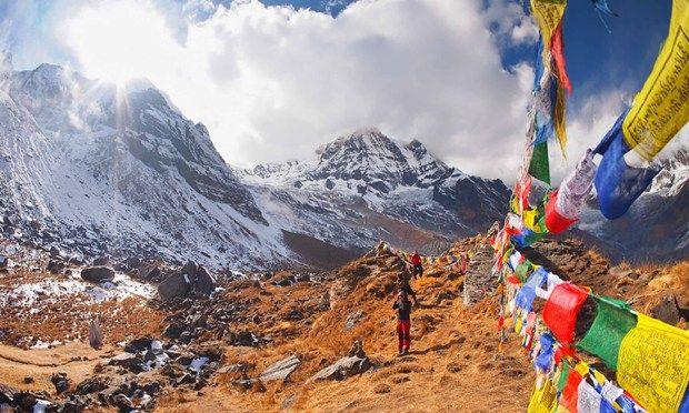 Prayer flags at Annapurna Base Camp