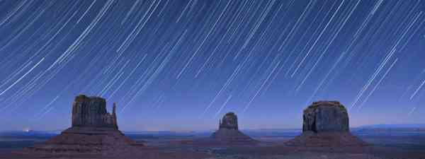 Star trails over Monument Valley, USA (Shutterstock: see credit below)