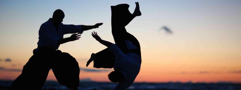 Practicing aikido technique (Shutterstock: see credit below)