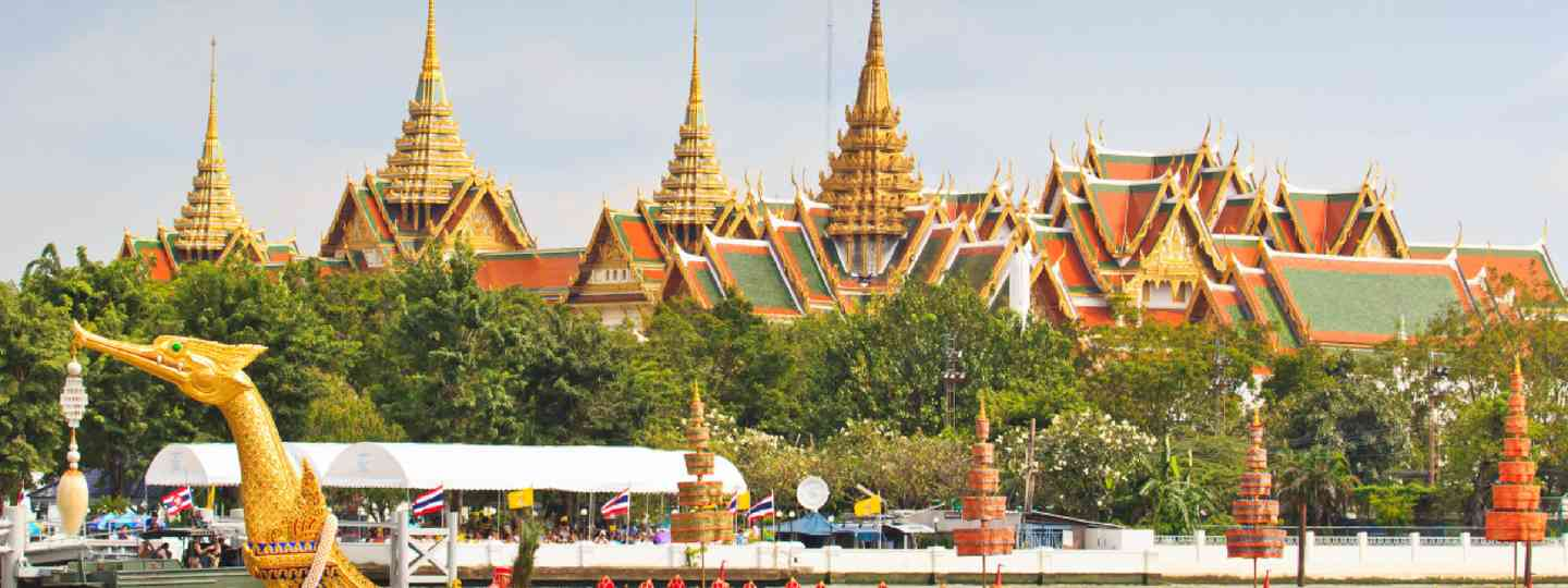 Grand Palace at the Chao Phraya, Bangkok (Shutterstock: see credit below)