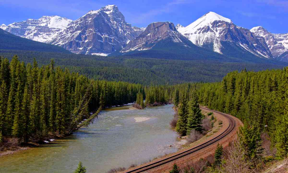 Railway line through the Rocky Mountains (Shutterstock.com)