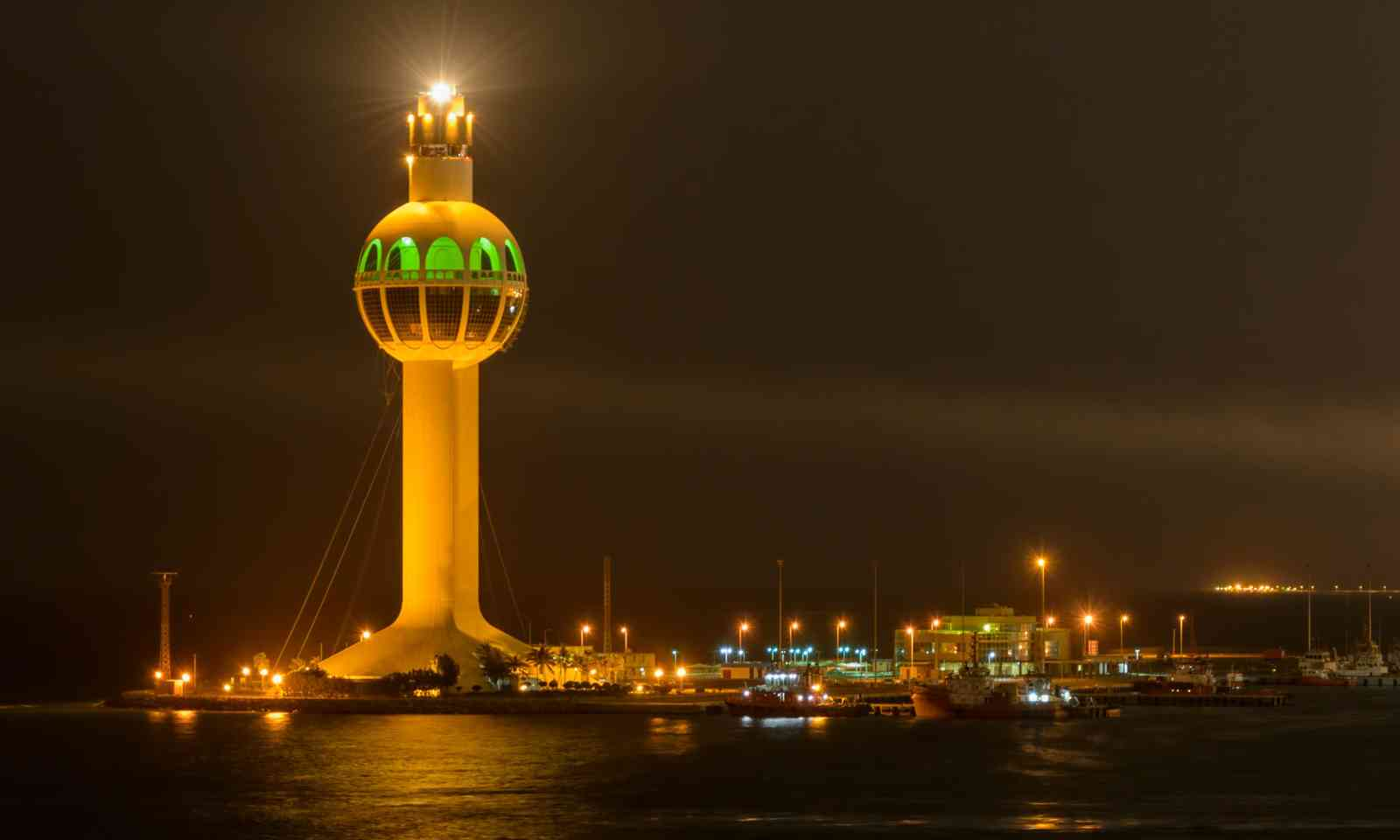 The ultra-modern Jeddah control tower and lighthouse (Dreamstime)