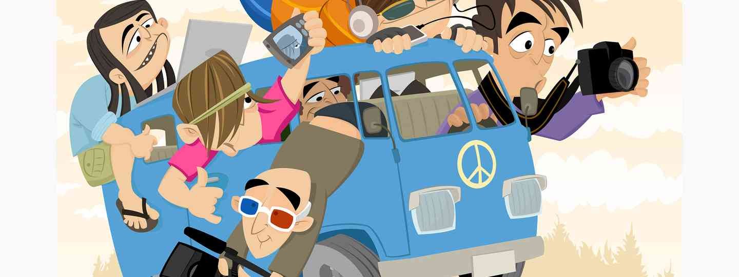 Creative types on a VW Camper (Shutterstock: see credit below)