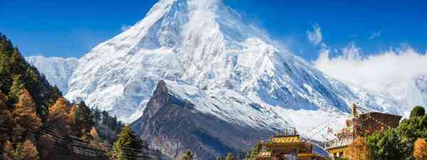 Mt. Manaslu in Himalayas, Nepal (Shutterstock: see credit below)