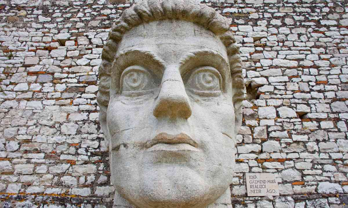 Giant Head in historic city of Berat (Shutterstock.com)