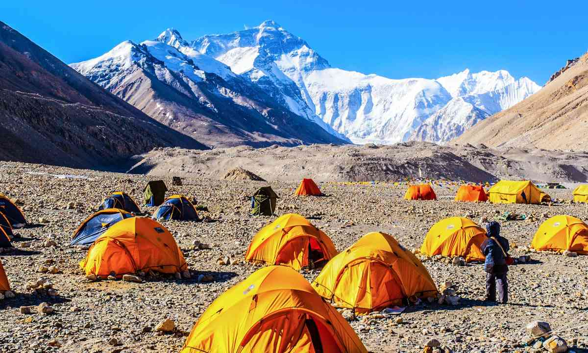 Tents pitched at Base Camp (Shutterstock.com)