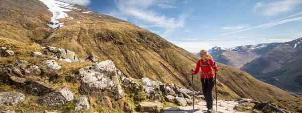 Hiker on Ben Nevis (Shutterstock)