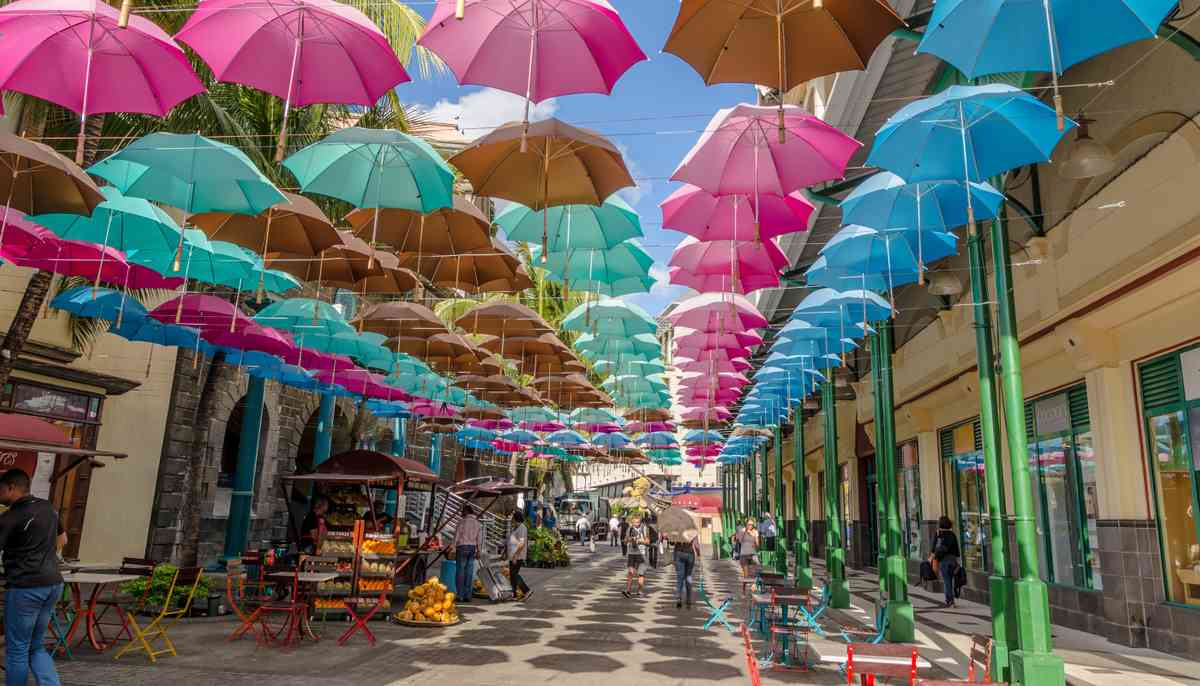 Umbrellas in Port Louis (Shutterstock.com)