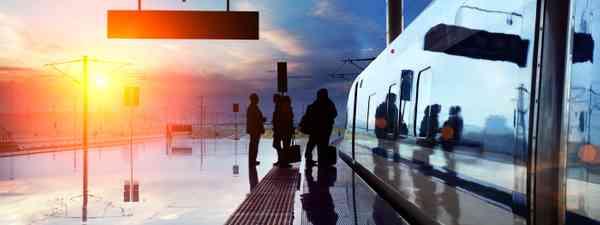 Sunset on a rail platform (Shutterstock.com. See main credit below)