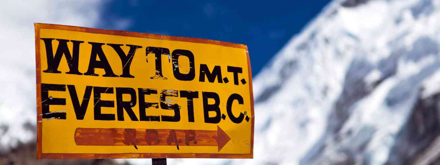 Sign pointing the way to Everest Base Camp (Shutterstock.com. See main credit below)