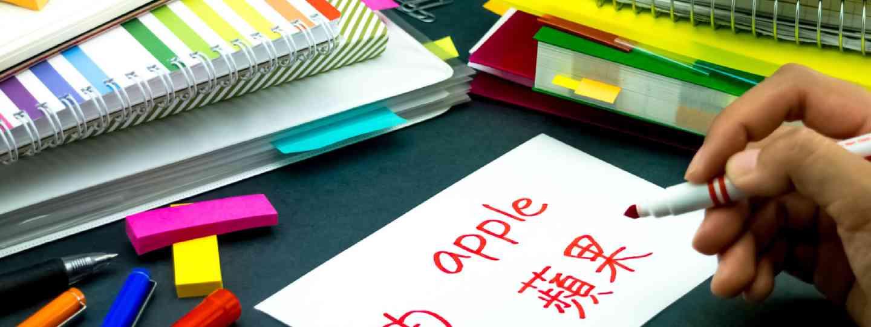 Making Mandarin flash cards (Shutterstock)