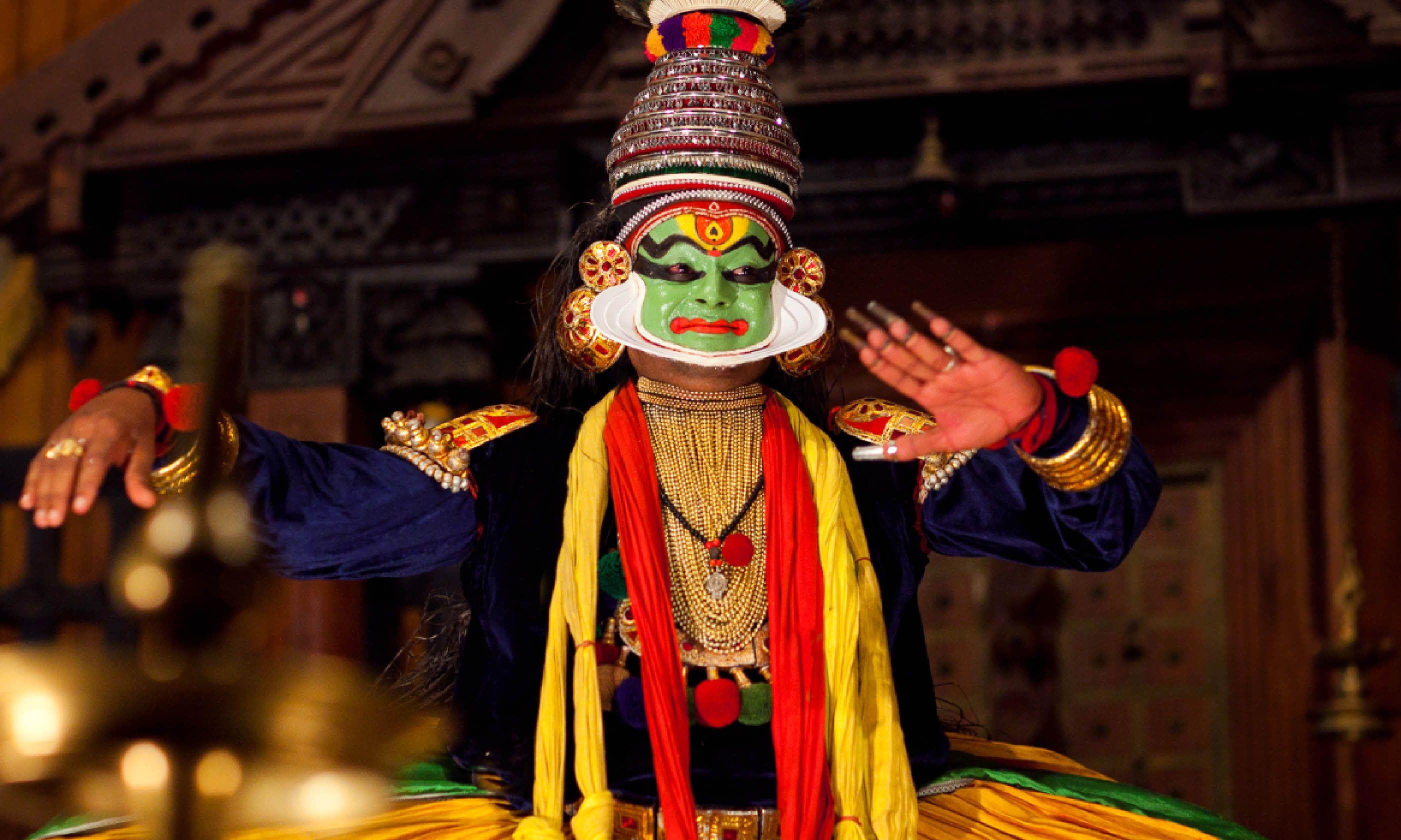 Kathakali show in Kerala (Dreamstime)