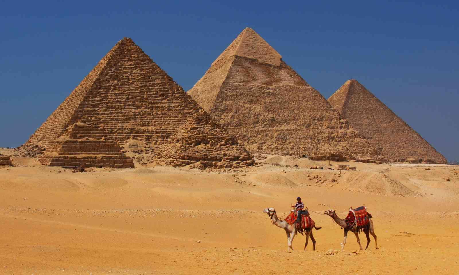 The pyramids. Empty. (Dreamstime)