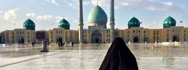 Iranian woman going to Friday mosque (Shutterstock.com. See main image below)